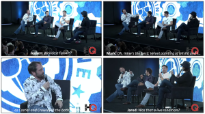 Supernatural Cast at NerdHQ talking about FanArt Screen Caps